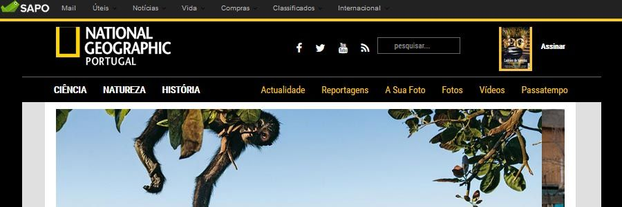 site da National Geographic